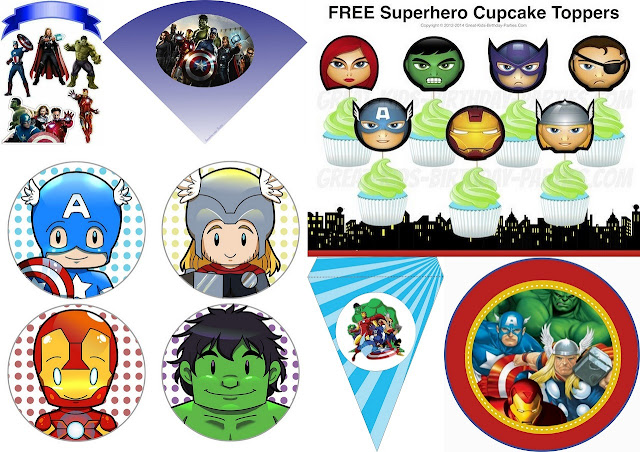 Avengers and Baby Avengers Free Printables.