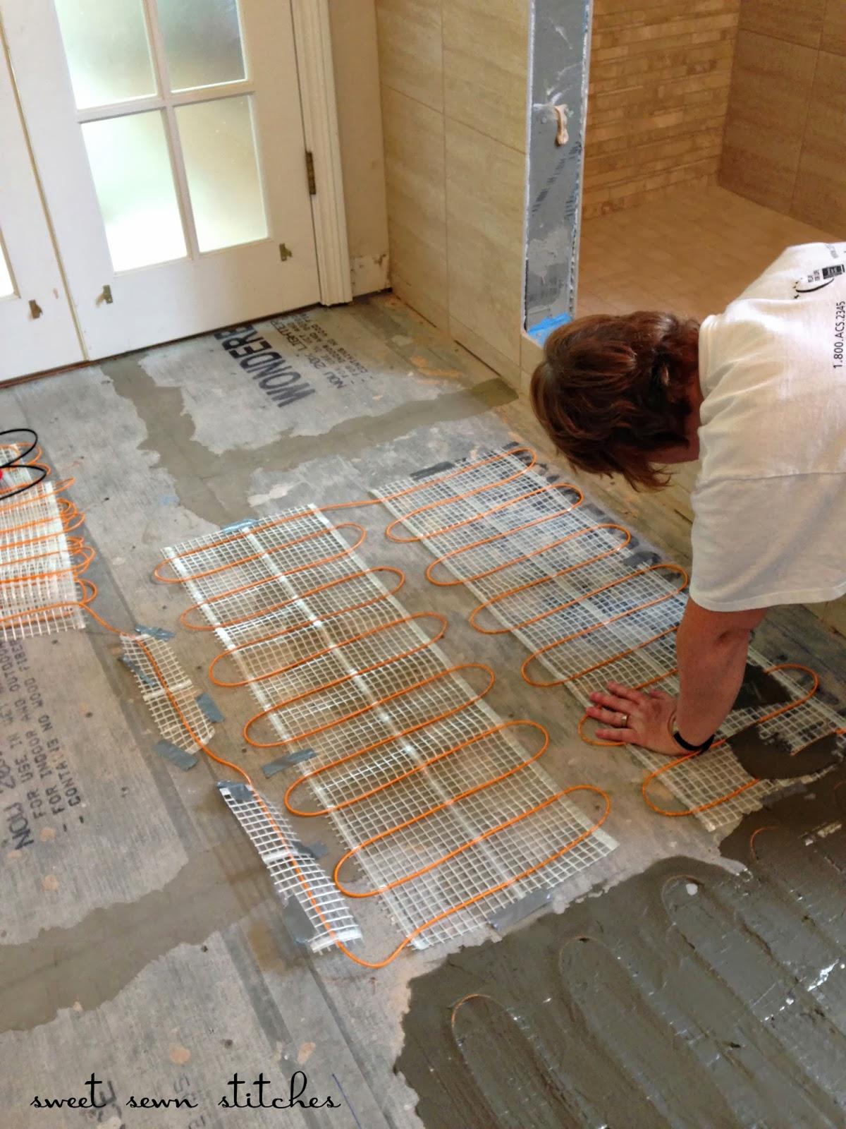 Sweet Sewn Stitches Bath Heated Tile Floor  Part 4