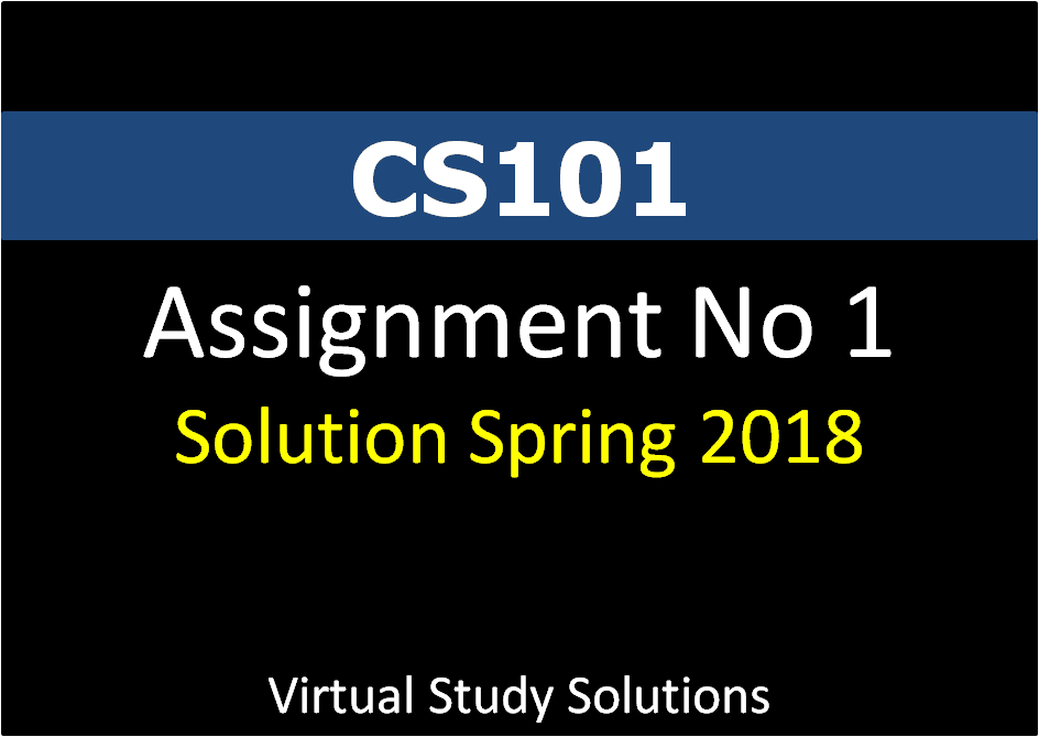 cs101 assignment solution