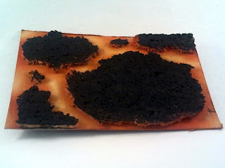 Lava base WIP - Using cork and my airbrush