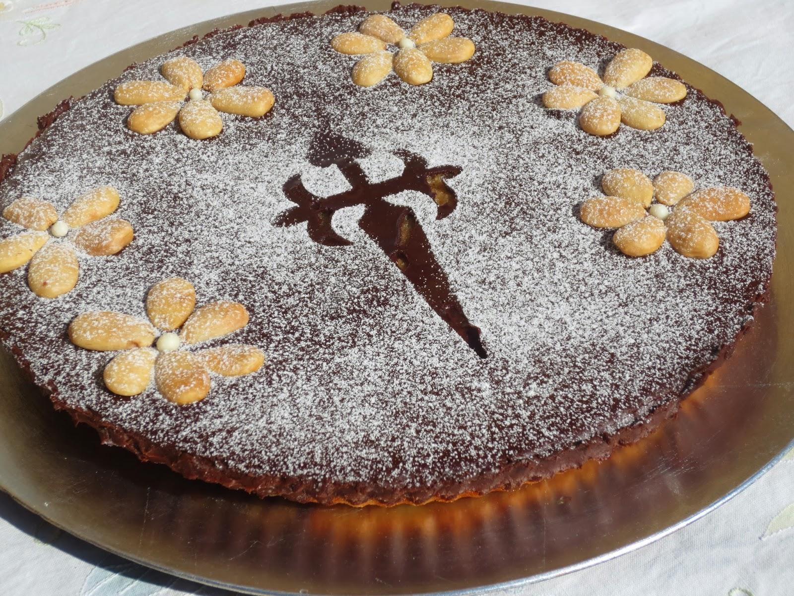 Tarta Santiago con o sin chocolate Ana Sevilla con Thermomix