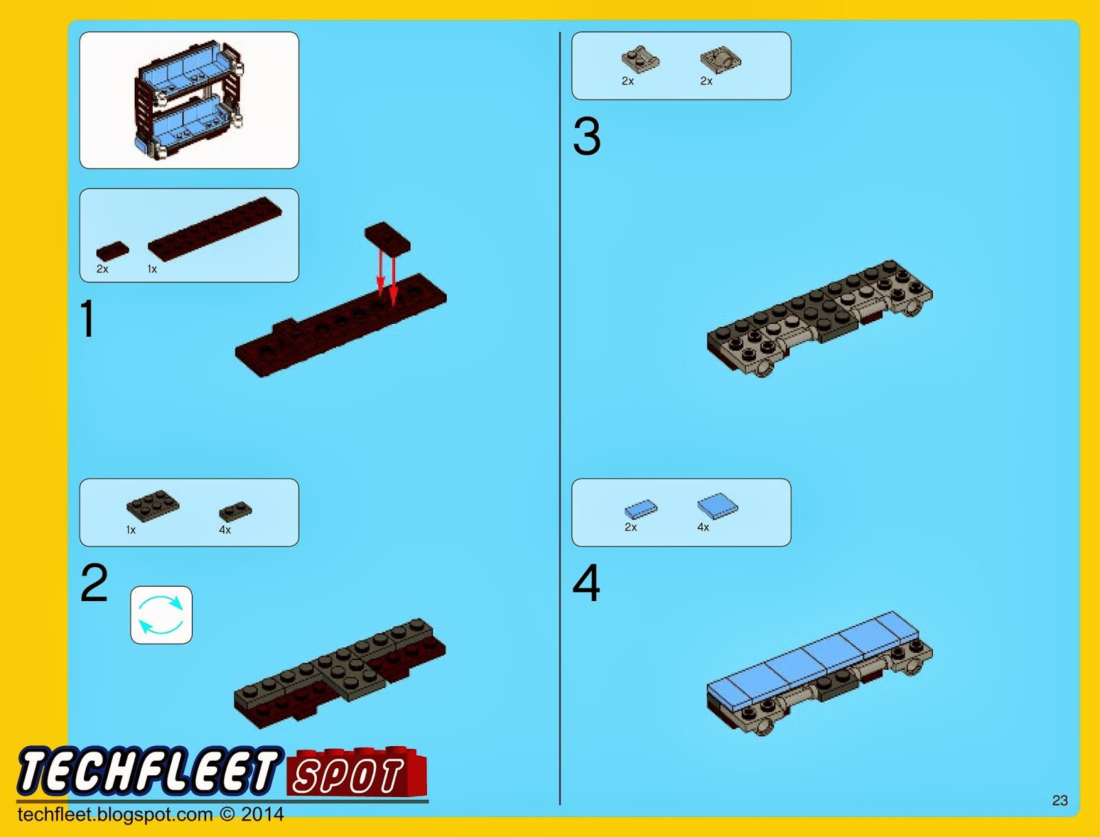 how to make a simple lego sofa chester field techfleet spot emmet s double decker couch instructions 70810