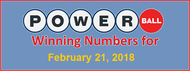 PowerBall Winning Numbers for Wednesday 21 February 2018