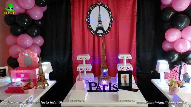 Decoração de aniversário tema Paris - Festa feminina provençal