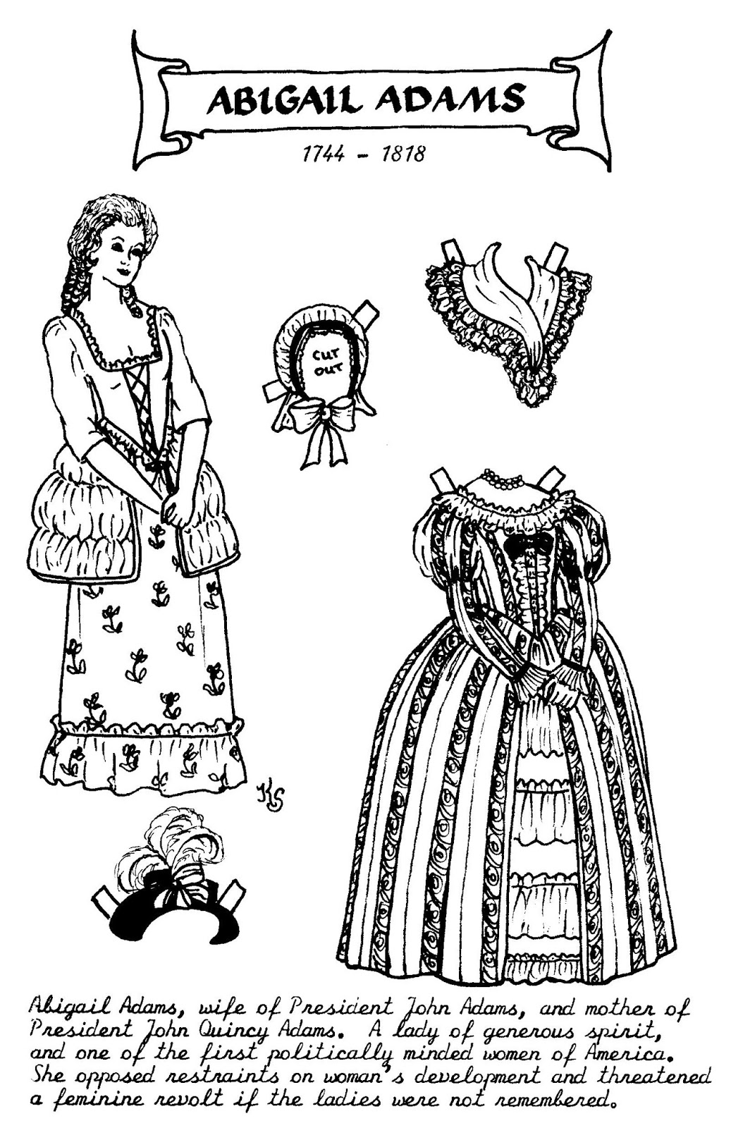 abigail adams coloring pages - photo#8