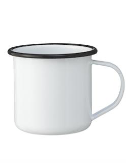 mug en blanc email HEMA