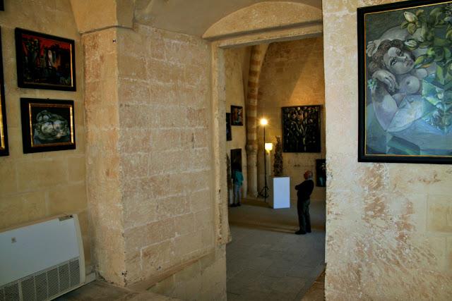 castello, stanza, quadri, esposizione