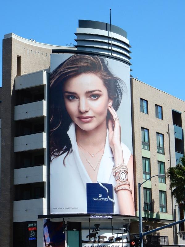 Miranda Kerr Swarovski jewelry billboard