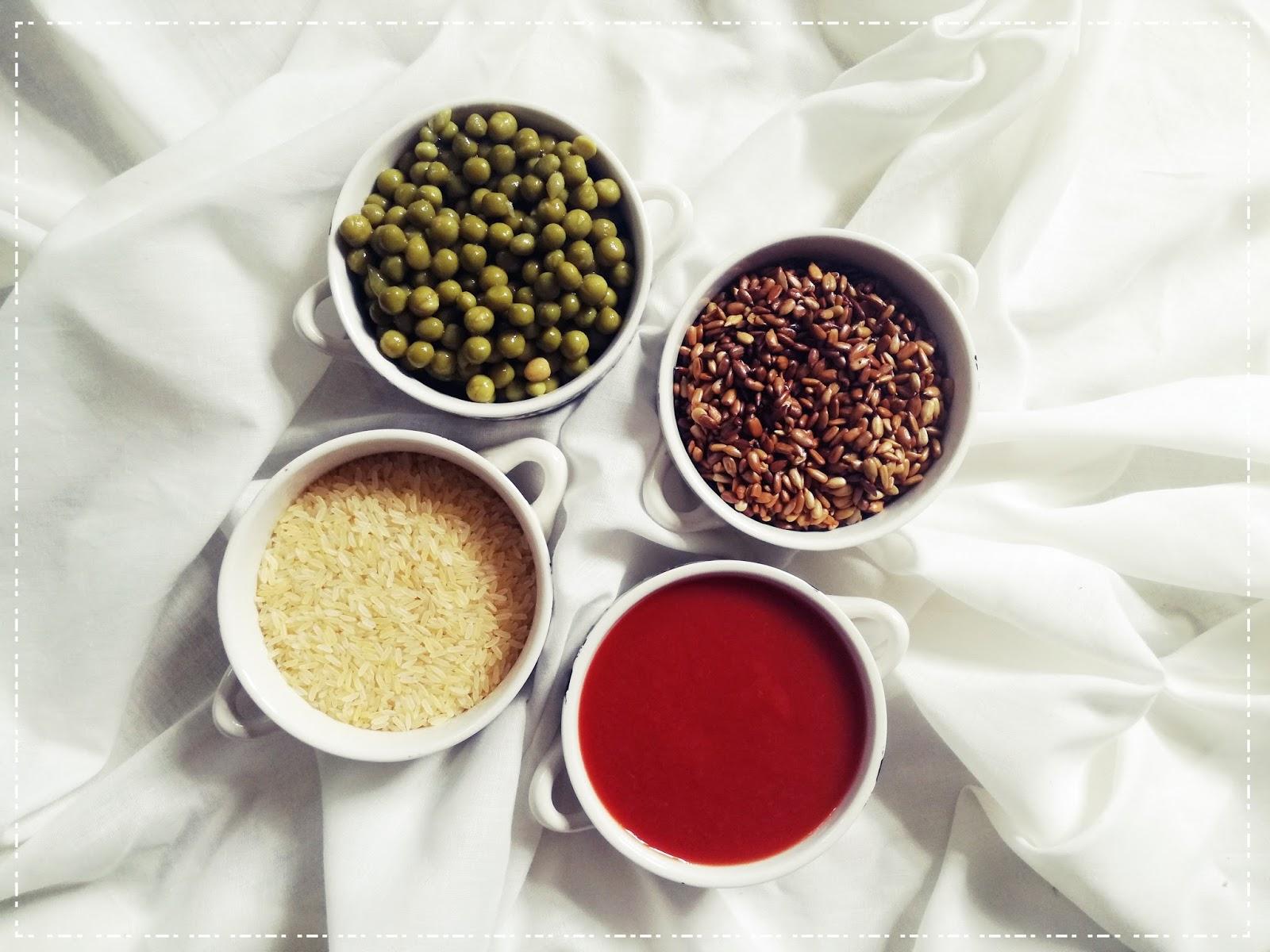 Szybkie danie z woka :  ryż z groszkiem i prażonym słonecznikiem