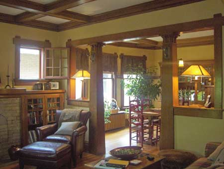 Little cottage on the estate let there be light - Craftsman style house interior ...