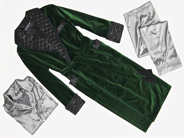 Men's velvet luxury robe gentleman's vintage quilted silk dressing gown extra warm long housecoat