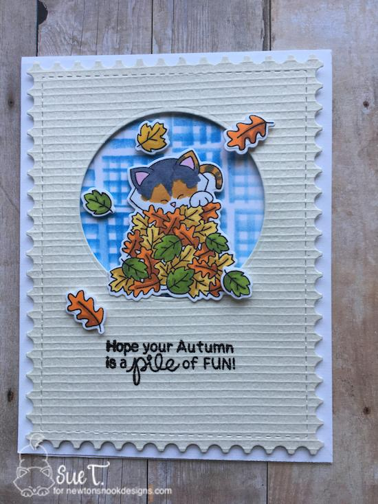 Hope your autumn is a pile of fun by Sue features Autumn Newton, Framework, and Serene by Newton's Nook Designs; #newtonsnook