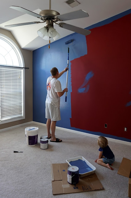 Painting the Wall Blue