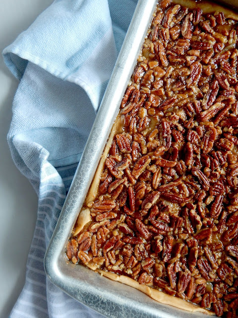 Maple Pecan Pie Cobbler....a pecan pie lovers dream!  Serves 24, with a hint of maple and has a double crust!  Perfect for the holidays. (sweetandsavoryfood.com)