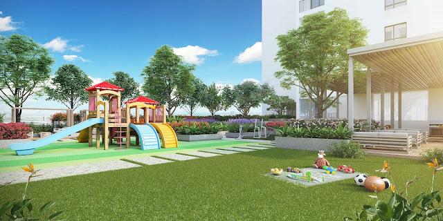 Khu sân chơi cho trẻ em với không gian rộng, thoáng
