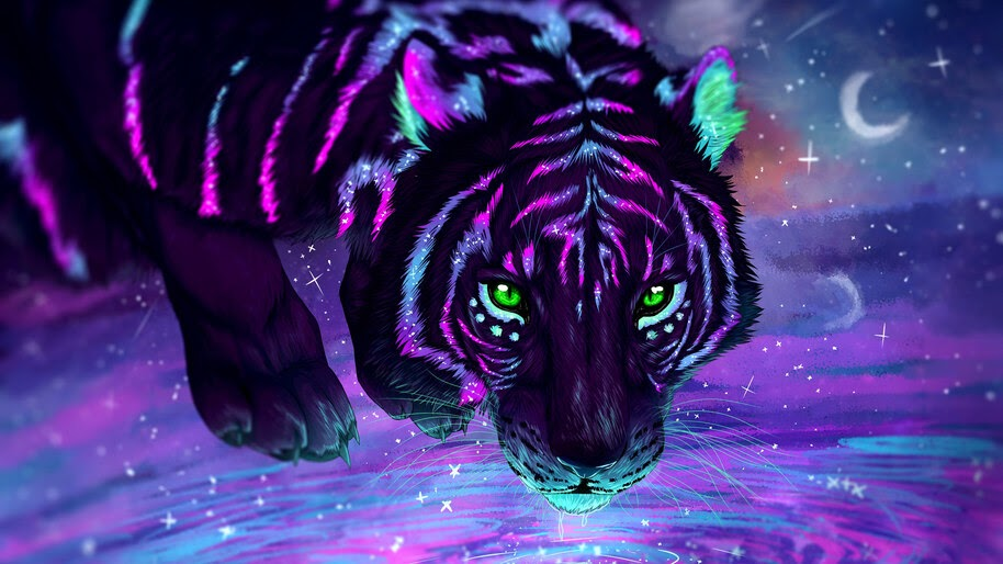 Tiger, Fantasy, Digital Art, 4K, #4.556