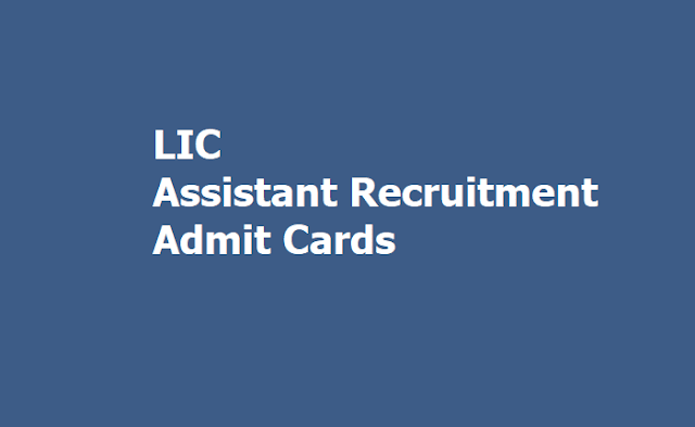 LIC Assistant Prelims Admit Cards 2019, Exam On October 30, 31