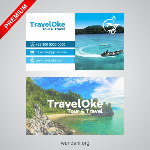 Business Card Design for Travel - Premium