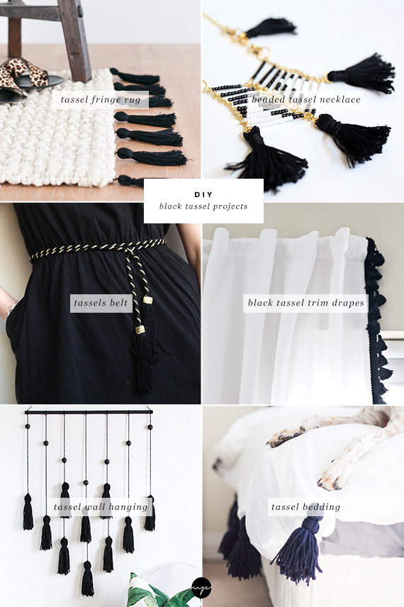 DIY: Black tassel projects