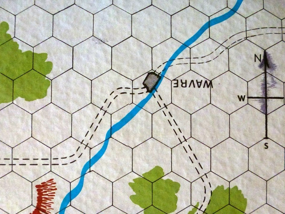 Map from Waterloo game published by Avalon Hill