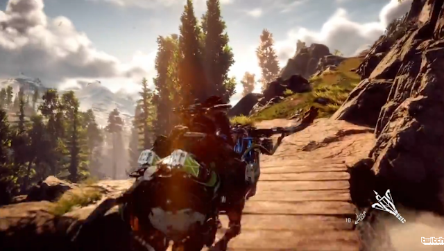 Horizon Zero Dawn Sony E3 2016 PlayStation 4 riding vehicle robot boar