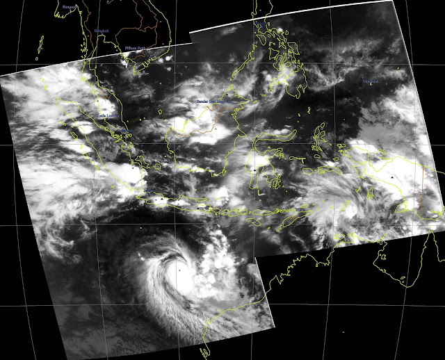 Composite Image from Night pass Meteor M2 over Indonesia