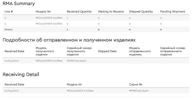 Замена HDD через официальный сервис Western Digital