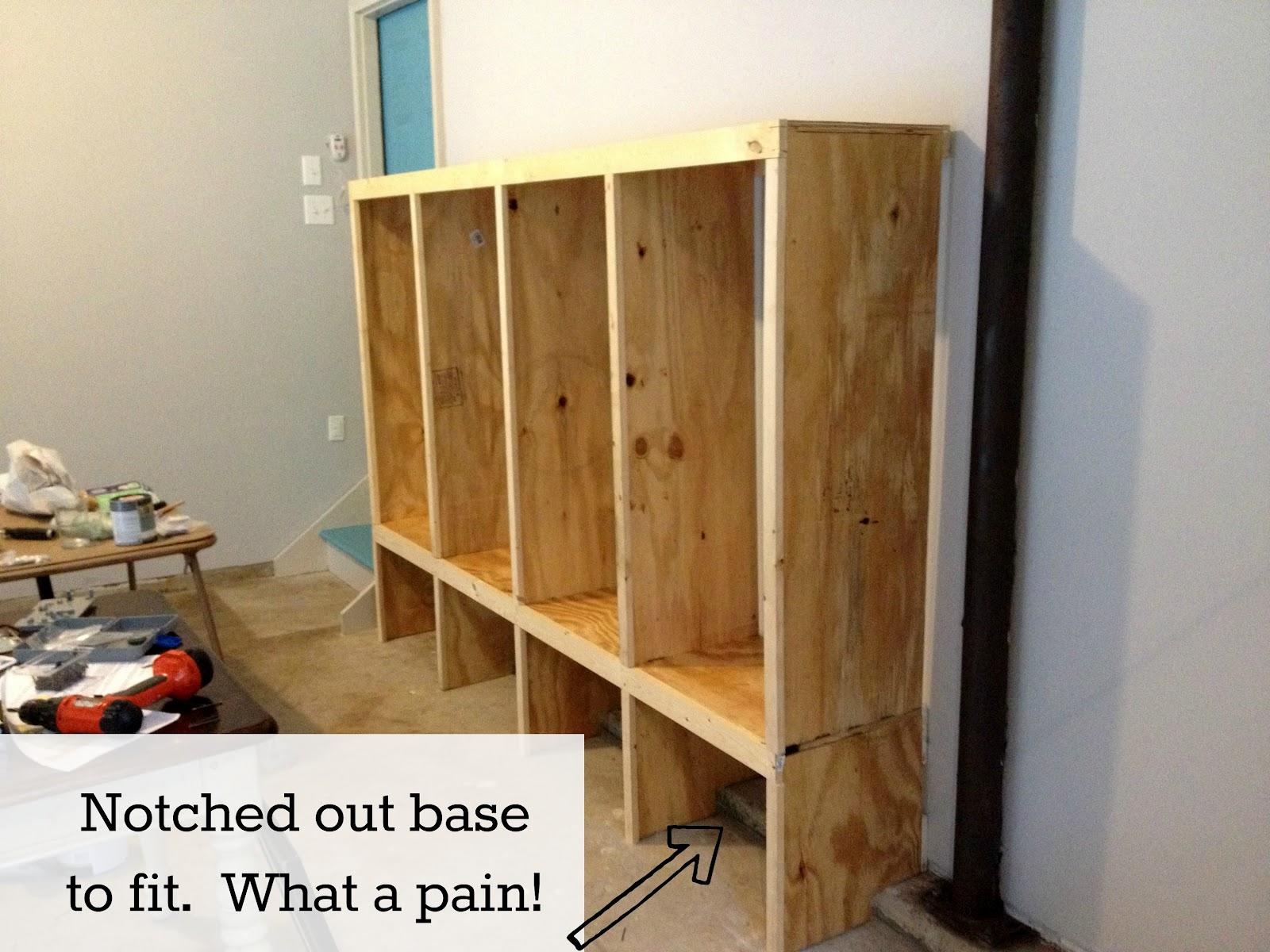Mudroom Shelves And Hooks DIY Mudroom Lockers- Garage Mudroom Makeover