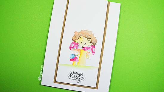 No line coloring Hedgehog Cards by Special Guest, Simon Hurley | Hedgehog Hollow Stamp set by Newton's Nook Designs #newtonsnook