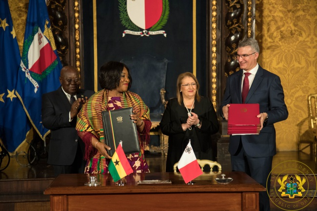 Ghana, Malta Sign Five Memoranda Of Understanding