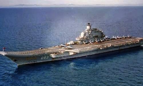 Kapal Induk terbesar Admiral Kuznetsov dari rusia