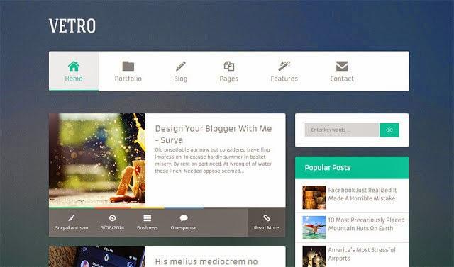 Flat Vetro Free Blogger Template