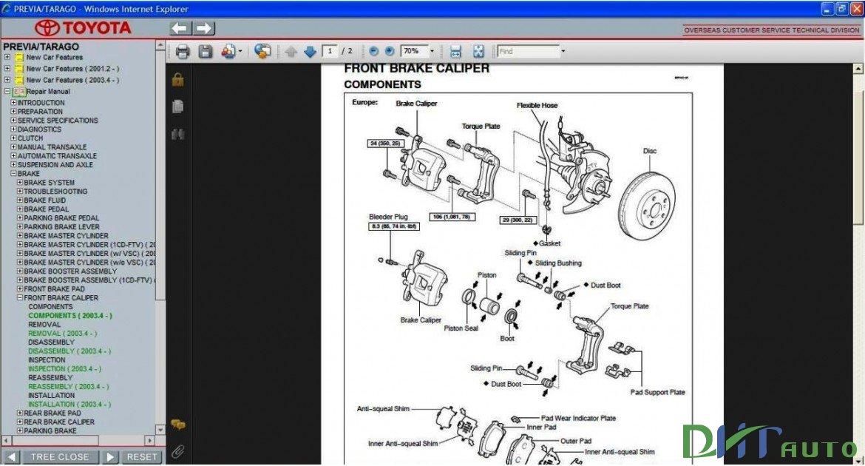 Car repair manuals software update