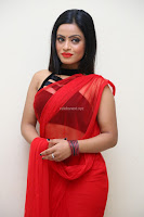 Aasma Syed in Red Saree Sleeveless Black Choli Spicy Pics ~  Exclusive Celebrities Galleries 091.jpg