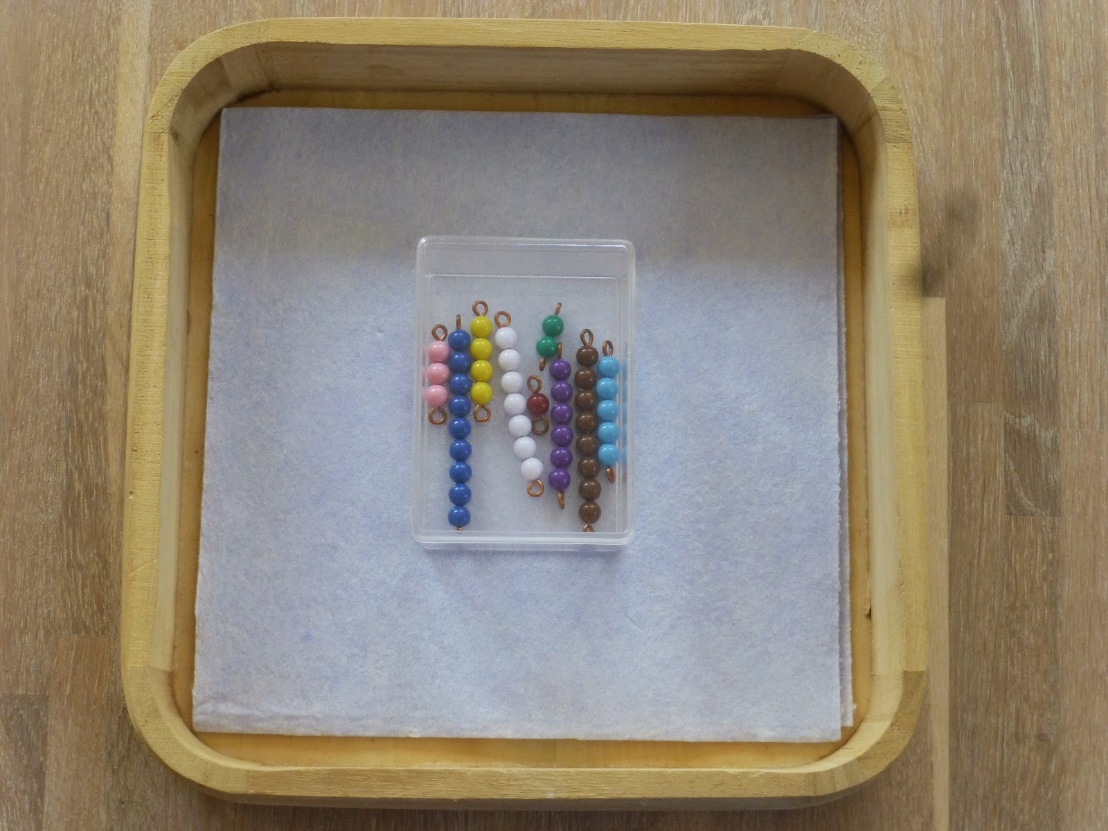 Family Fecs Montessori Activity The Colored Short Bead Stair