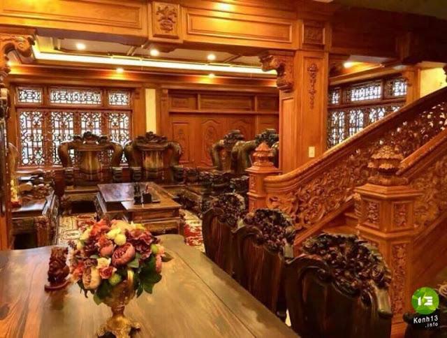tư gia bằng gỗ của ông Khổng Trung là ngôi nhà gỗ lớn nhất tỉnh Quảng Trị