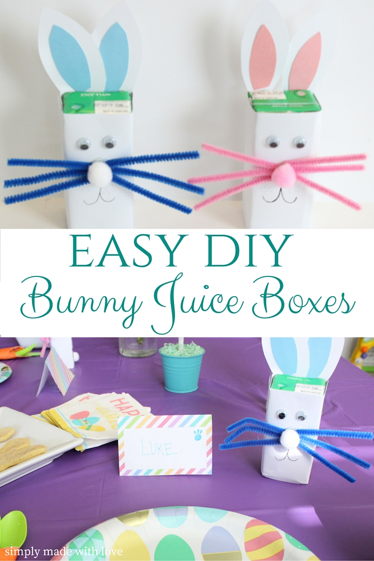 Simply Made With Love Easter Bunny Juice Boxes