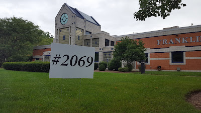 #2069 sign at Franklin Police Station on Panther Way