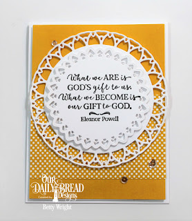 Our Daily Bread Designs Stamp Set: God Quotes 2, Custom Dies: Filigree Circles, Paper Collection: Birthday Brights