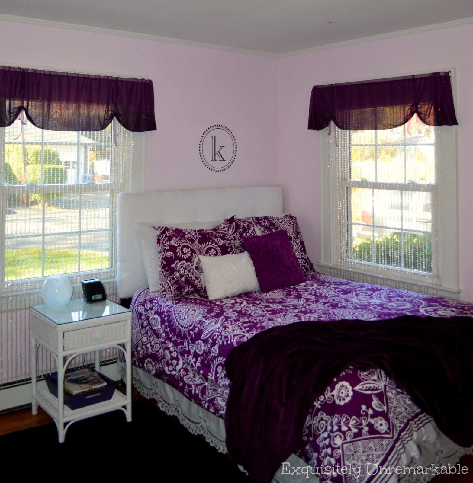 Teenage Girl Purple Pottery Barn Bedroom Decor Ideas