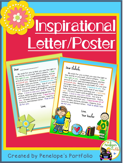 A welcome motivational letter for students or children
