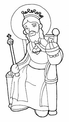 Resultado de imaxes para dibujos cristo rey