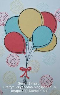 Stampin' Up! Susan Simpson Independent Stampin' Up! Demonstrator, Craftyduckydoodah!, Balloon Celebration,