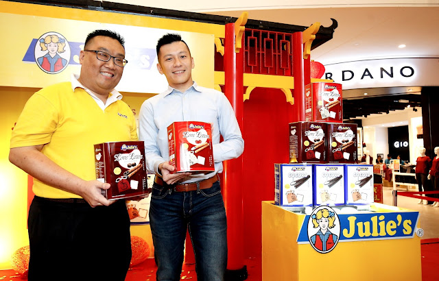 Mr Dennis Swee, Senior National Sales Manager (Left) & Mr Sai Tzy Horng, Director Of Julie's Biscuits (Right)