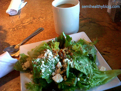 salad and coffee at The Cafe in Ames Iowa