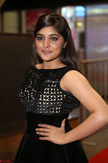 Niveda Thomas Black Sleeveless Cute Dress at 64th Jio Filmfare Awards South 2017 ~  Exclusive 121.JPG
