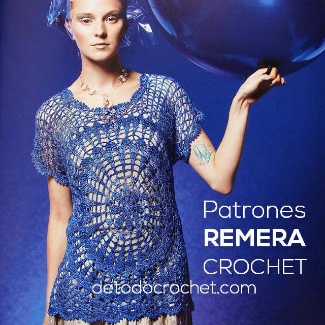 Remera Con Motivo Redondo al Crochet / Patrones | Todo crochet