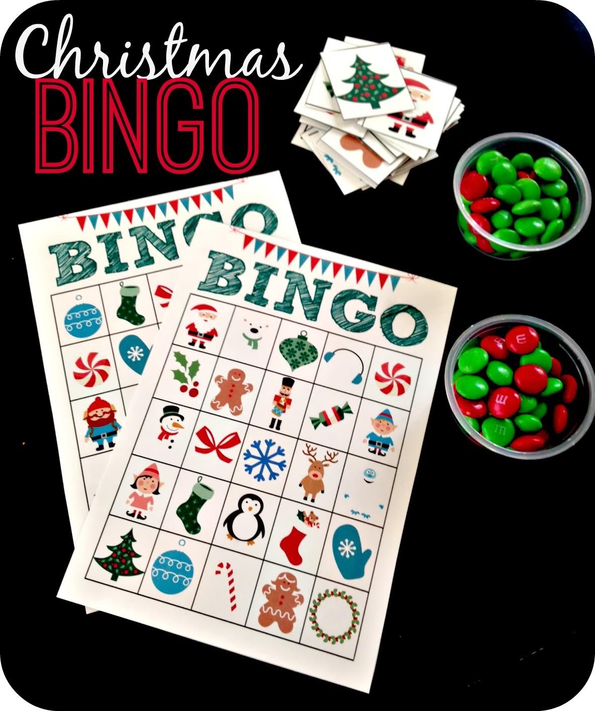 Free Printable Christmas Bingo Cards For Adults: Blue Skies Ahead: Printable Christmas Bingo