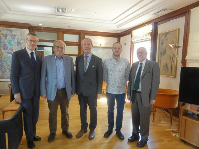 Συνάντηση του Υπουργού Πολιτισμού και Αθλητισμού κ. Αριστείδη Μπαλτά με τον Πρέσβη της Φιλανδίας κ. Pauli Mäkelä