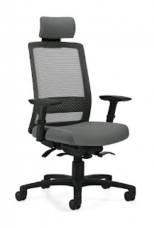 Weight Sensing Office Chair with Headrest